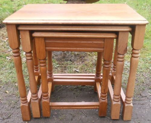 Light Oak Nest of  Coffee Tables